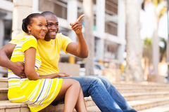 African couple outdoors Royalty Free Stock Photography