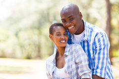 African couple outdoors Royalty Free Stock Images