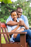 African couple park Stock Photography