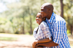 African couple park Royalty Free Stock Images
