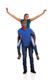 African couple piggyback Royalty Free Stock Photography
