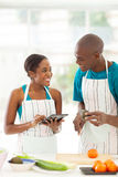 African couple recipe Royalty Free Stock Photography