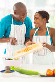 African couple salad Royalty Free Stock Image