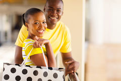 African couple shopping Stock Photo