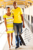 African couple shopping center Stock Photos