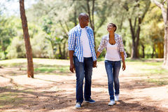 African couple walk Stock Photography