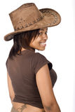 African cowgirl Royalty Free Stock Image