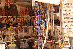 African craft items for sale at the market in Iringa in Tanzania Stock Images