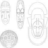 African Cultural Masks Royalty Free Stock Photo