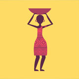 African culture. Design , vector illustration Royalty Free Stock Image