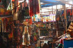 African Curio Market Stock Photography