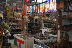 African Curio Market Royalty Free Stock Images