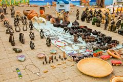 African Curios on sale on Soweto Township street. Johannesburg, South Africa, September 11, 2011, African Curios on sale on Soweto Township street stock images