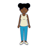 African cute woman ethnicity character. Vector illustration design stock illustration