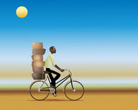 African cyclist Stock Photo
