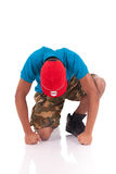 African dancer breakdance Royalty Free Stock Images