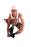 African dancer breakdance Royalty Free Stock Image