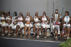 African dancers. Performing at the opening of the Grahamstown national arts festival in Grahamstown in the Eastern Cape Stock Photography
