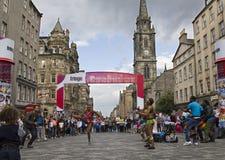 African Dancers on Edinburgh Festival Stock Image