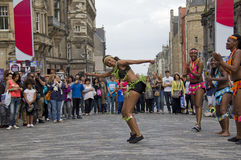African Dancers on Edinburgh Festival Stock Photos