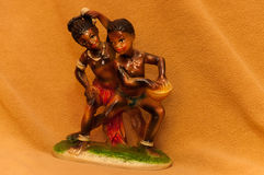 African Dancers Figurines Royalty Free Stock Image