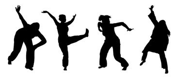 African dancing. Collection of women dancing an African dance vector Royalty Free Stock Photography