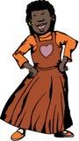african dancing woman απεικόνιση αποθεμάτων