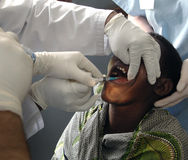 African dental treatment Stock Photography
