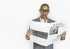 Free African Descent Business Man Reading Newspaper Stock Image - 89805961