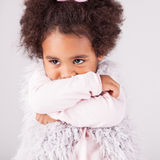 African descent child. Portrait of a beautiful african descent child Royalty Free Stock Photo