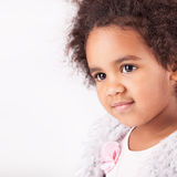 African descent child. Portrait of a beautiful african descent child Stock Images