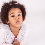 African descent child. Portrait of a beautiful african descent child Royalty Free Stock Photography