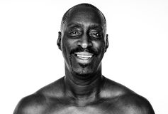 African descent man in a shoot Stock Images