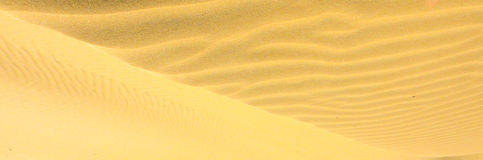 African desert dunes. Like ocean waves Stock Photos