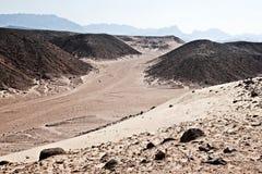 African desert in Hurghada Royalty Free Stock Photo