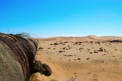 African Desert pollution, Namibia stock image