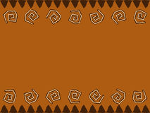 African Design. Background border with native african style design Royalty Free Stock Images