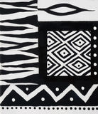 African design black and white Royalty Free Stock Photography