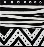 African design black and white Royalty Free Stock Image