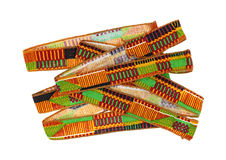 African Design Ribbon Ties Stacked Royalty Free Stock Photo