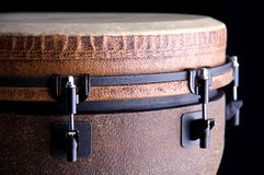 African Djembe on a Black Bk Royalty Free Stock Photo