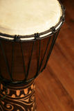 African Djembe drum. Selective focus image of a Djembe stock photos