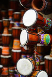 African djembe drum. Original african djembe drum at shop Royalty Free Stock Images