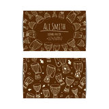 African djembe drum visit card. African drum visit card. Djembe master drummer business card. Isolated beige template with zulu ornament. Warm ethnic colors Stock Photo