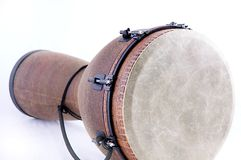 African Djembe Drum White Bk Royalty Free Stock Image