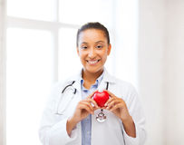 African doctor with heart Stock Photography