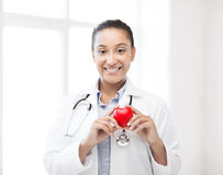 African doctor with heart Royalty Free Stock Image