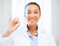 African doctor one omega pill Royalty Free Stock Image