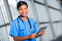 African doctor tablet Stock Image