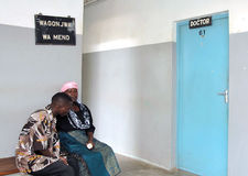African doctors waiting room Royalty Free Stock Image